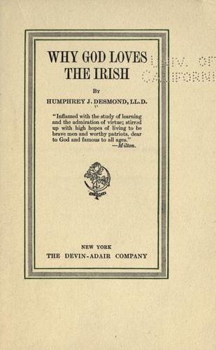 Download Why God loves the Irish