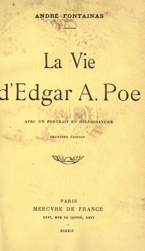 Download La vie d'Edgar A. Poe
