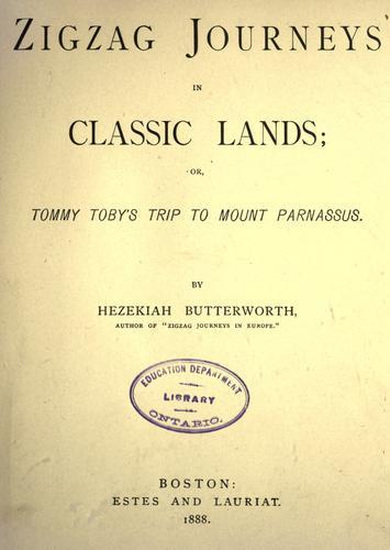 Download Zigzag journeys in classic lands