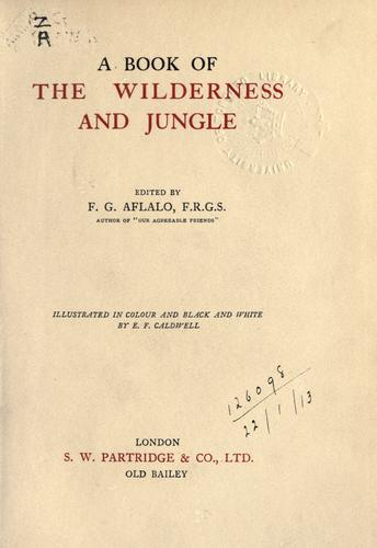Download A book of the wilderness and jungle