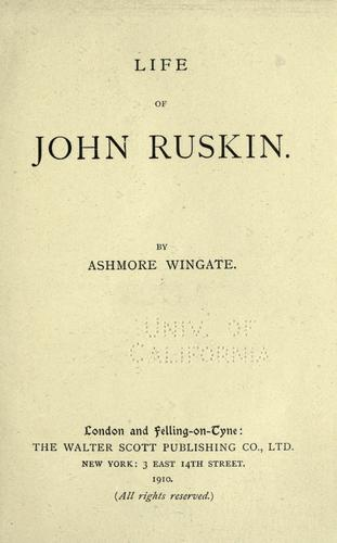 Life and writings of John Ruskin