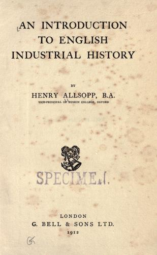 An introduction to English industrial history