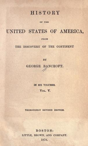 Download History of the United States of America from the discovery of the continent