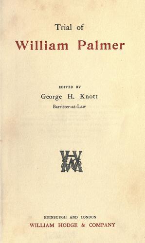 Trial of William Palmer