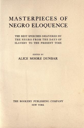 Download Masterpieces of negro eloquence