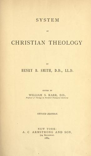 Download System of Christian theology.