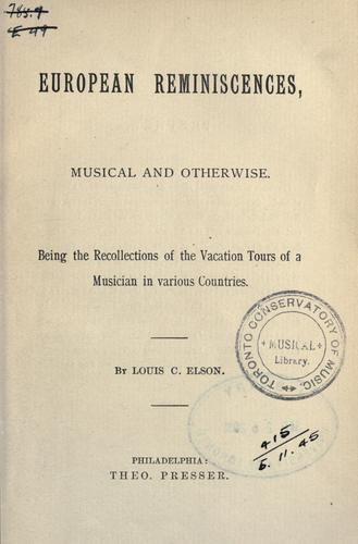 Download European reminiscences, musical and otherwise