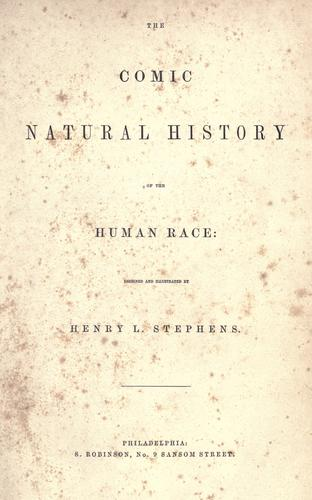 The comic natural history of the human race