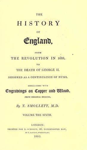Download The history of England from the revolution in 1688, to the death of George II.