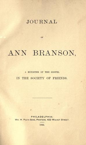 Download Journal of Ann Branson