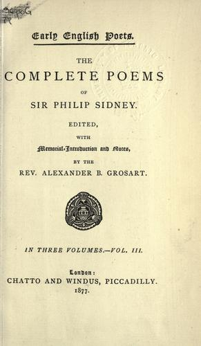 Complete poems.
