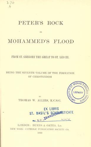 Peter's rock in Mohammed's flood