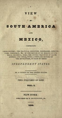 A view of South America and Mexico
