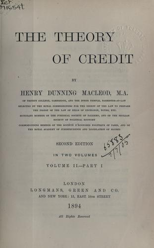 The theory of credit.