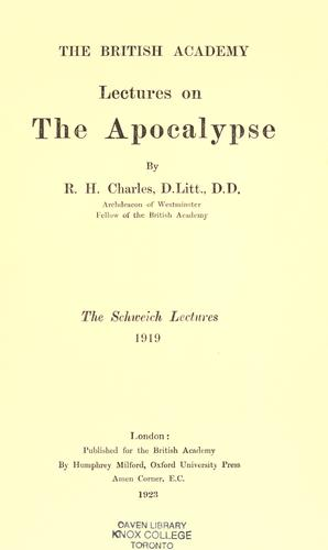 Download Lectures on the Apocalypse