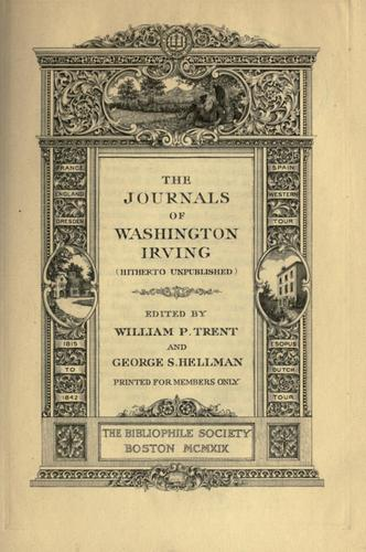 Download The journals of Washington Irving (hitherto unpublished)