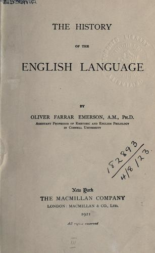 The history of the English language.
