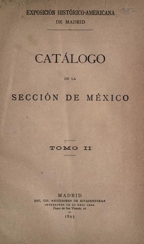 Catálogo de la Sección de México.