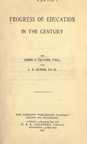 Progress of education in the century