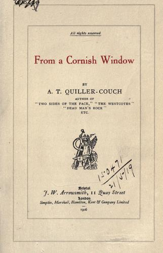 Download From a Cornish window.