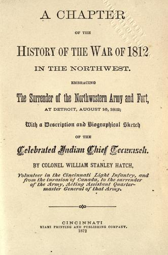 Download A chapter of the history of the War of 1812 in the Northwest.