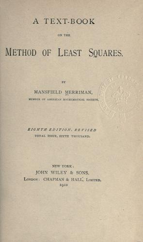Download A text-book on the method of least squares.