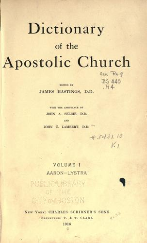 Download Dictionary of the apostolic church.