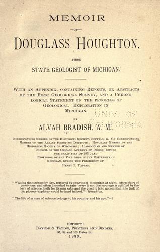 Memoir of Douglass Houghton