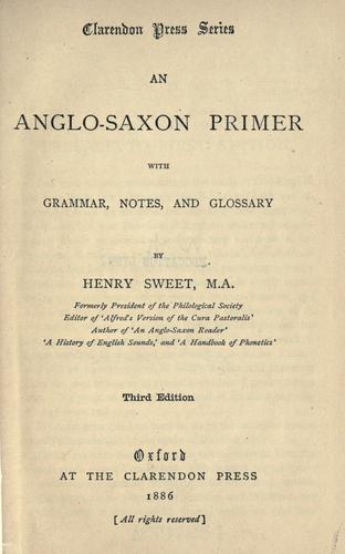 Download An Anglo-Saxon primer