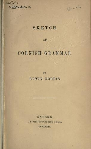 Sketch of Cornish grammar.
