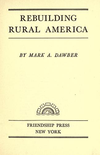 Download Rebuilding rural America
