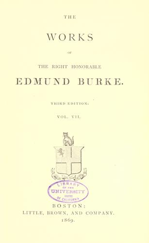 Download The works of the Right Honorable Edmund Burke