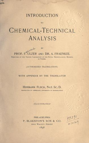Download Introduction to chemical-technical analysis