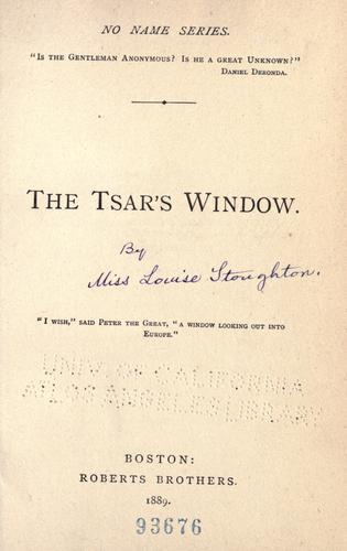 The tsar's window …