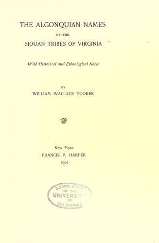The Algonquian series