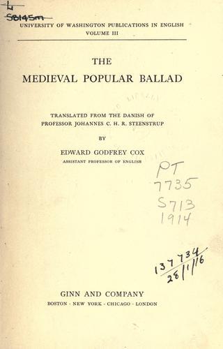 Download The medieval popular ballad