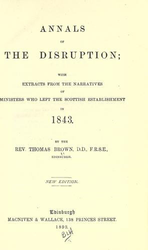 Download Annals of the disruption
