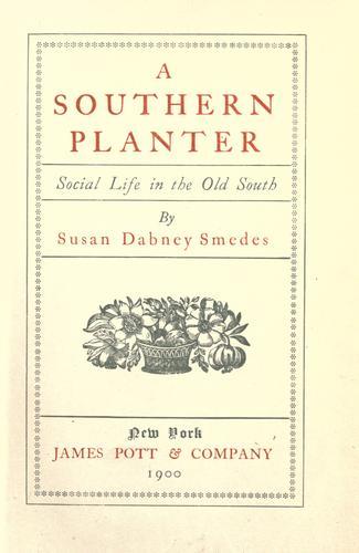Download A southern planter