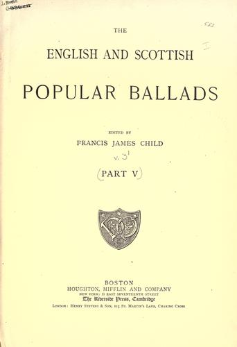 The English and Scottish popular ballads.