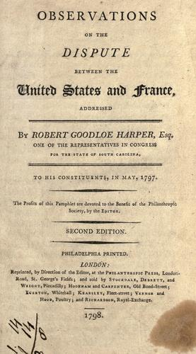 Download Observations on the dispute between the United States and France