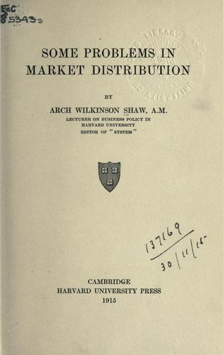 Download Some problems in market distribution.