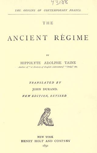Download The ancient regime