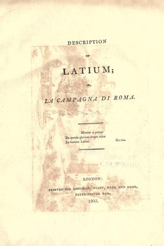 Download Description of Latium