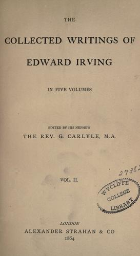 Download The collected writings of Edward Irving Vol 3