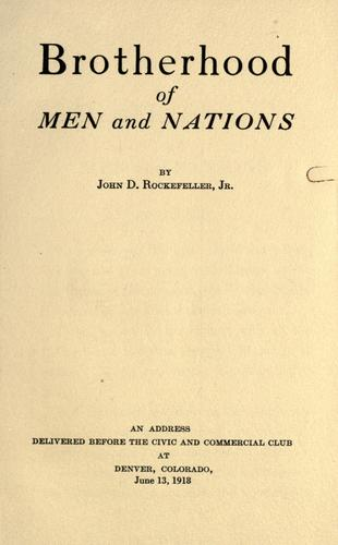 Download Brotherhood of men and nations