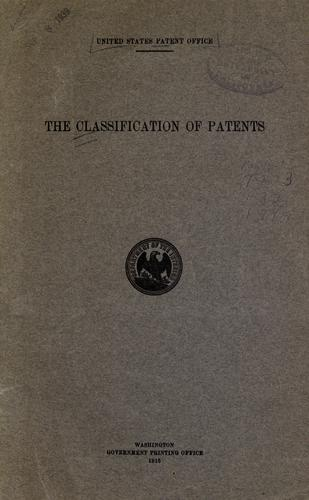 The classification of patents.