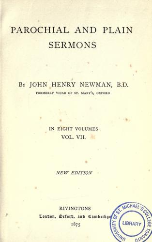 Download Parochial and plain sermons
