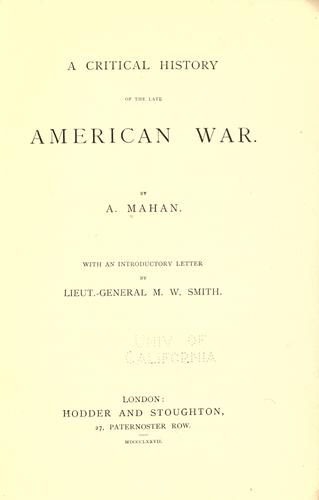Download A critical history of the late American war