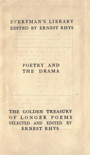 The golden treasury of longer poems