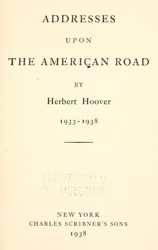 Download Addresses upon the American road